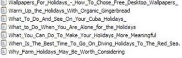 Thumbnail 7 Holidays PLR Articles Vol . 10 plus 25 FREE Reports ( Bargain Hunter Warehouse )
