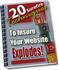 Thumbnail 20 Surefire Techniques To Insure That Your WebSite Explodes
