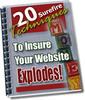 Thumbnail 20 Surefire Techniques To Insure That Your WebSite Explodes