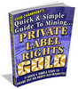 Thumbnail Mining Private Label Rights Gold  + 25 FREE Reports ( Bargain Hunter Warehouse )