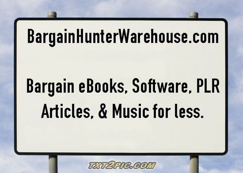 Pay for 20 Hot Niche Header Graphics www.bargainhunterwarehouse.com
