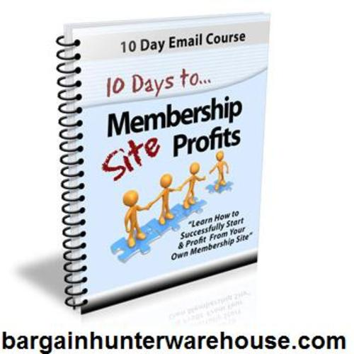 Pay for 10 Days To Membership Site Profits + FREE Gift
