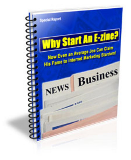 Pay for Why Start An E zine With Master Resale Rights Plus 10 FREE Bonus Reports ( Bargain Hunter Warehouse )