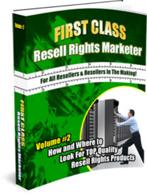 Pay for First Class Resell Rights Marketer + 25 FREE Reports ( Bargain Hunter Warehouse )