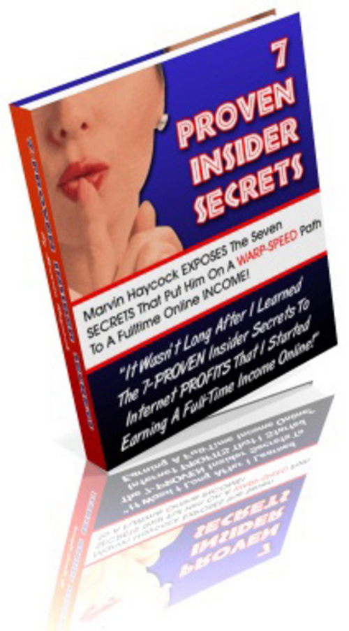 Pay for 7-PROVEN Insider Secrets + 25 FREE Reports ( Bargain Hunter Warehouse )