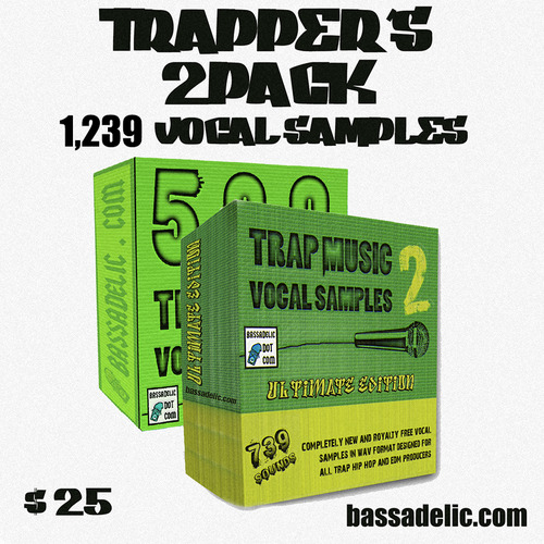 Pay for Trappers 2PACk (1239 Original Vocal Samples!)