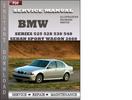 Thumbnail BMW 5 Series 525 528 530 540 Sedan Sport Wagon 2000 Factory Service Repair Manual Download