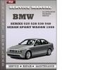 Thumbnail BMW 5 Series 525 528 530 540 Sedan Sport Wagon 1999 Factory Service Repair Manual Download