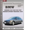 Thumbnail BMW 5 Series 525 528 530 540 Sedan Sport Wagon 1997 Factory Service Repair Manual Download