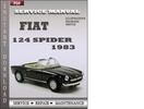 Thumbnail Fiat 124 Spider 1983 Factory Service Repair Manual Download