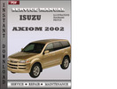 Thumbnail Isuzu Axiom 2002 Factory Service Repair Manual Download