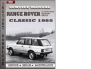 Thumbnail Range Rover Classic 1988 Factory Service Repair Manual Download