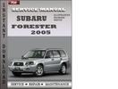 Thumbnail Subaru Forester 2005 Factory Service Repair Manual Download