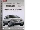 Thumbnail Nissan Micra 2006 Factory Service Repair Manual Download