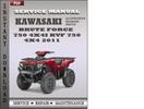 Thumbnail Kawasaki Brute Force 750 4x4i KVF 750 4x4 2011 Factory Service Repair Manual Download