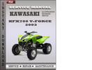 Thumbnail Kawasaki KFX700 V-Force 2003 Factory Service Repair Manual Download
