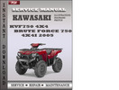Thumbnail Kawasaki KVF750 4x4 Brute Force 750 4x4i 2005 Factory Service Repair Manual Download