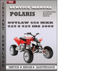 Thumbnail Polaris Outlaw 450 MXR 525 S 525 IRS 2009 Factory Service Repair Manual Download