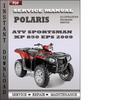Thumbnail Polaris ATV Sportsman XP 850 EPS 2009 Factory Service Repair Manual Download
