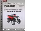 Thumbnail Polaris Sportsman 300 400 H.O 2009 Factory Service Repair Manual Download
