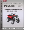 Thumbnail Polaris Sportsman 500 HO 500 EFI  X2 500 EFI  Touring 500 EFI 2009 ATV Factory Service Repair Manual Download