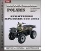 Thumbnail Polaris Sportsman Xplorer 500 2002 Factory Service Repair Manual Download