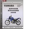 Thumbnail Yamaha XT660R XT660RX 2008 Factory Service Repair Manual Download