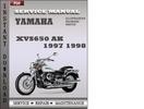 Thumbnail Yamaha XVS650 AK 1997 1998 Factory Service Repair Manual Download