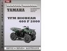 Thumbnail Yamaha YFM Bigbear 400 F 2000 Factory Service Repair Manual Download