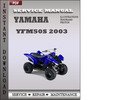 Thumbnail Yamaha YFM50S 2003 Factory Service Repair Manual Download
