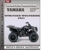 Thumbnail Yamaha YFM350EX Wolverine 2001 Factory Service Repair Manual Download