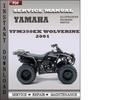 Thumbnail Yamaha YFM350EX Wolverine 2001 Factory Service Repair Manual Download