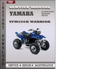 Thumbnail Yamaha Yfm350X Warrior Factory Service Repair Manual Download