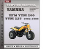 Thumbnail Yamaha YFM YTM 200 YTM 225 1983-1986 Factory Service Repair Manual Download