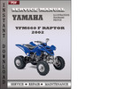 Thumbnail Yamaha YFM660 F Raptor 2002 Factory Service Repair Manual Download