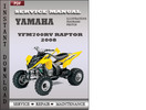 Thumbnail Yamaha Yfm700rv Raptor 2008 Factory Service Repair Manual Download