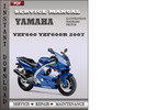 Thumbnail Yamaha YZF600 YZF600R 2007 Factory Service Repair Manual Download