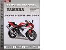 Thumbnail Yamaha YZFR1P YZFR1PC 2003 Factory Service Repair Manual Download