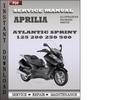 Thumbnail Aprilia Atlantic Sprint 125 200 250 500 Factory Service Repair Manual Download