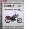 Thumbnail Aprilia Pegaso 650 IE 2002 Factory Service Repair Manual Download