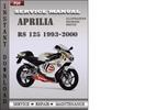 Thumbnail Aprilia RS 125 1993-2000 Factory Service Repair Manual Download