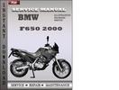 Thumbnail BMW F650 2000 Factory Service Repair Manual Download