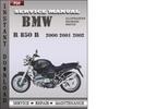 Thumbnail BMW R 850 R 2000 2001 2002 Factory Service Repair Manual Download