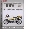 Thumbnail BMW R 1100 S 2002 2003 2004 Factory Service Repair Manual Download