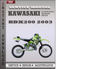 Thumbnail Kawasaki KDX200 2003 Factory Service Repair Manual Download