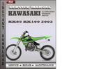 Thumbnail Kawasaki KX85 KX100 2003 Factory Service Repair Manual Download