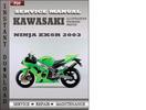 Thumbnail Kawasaki Ninja ZX6R 2003 Factory Service Repair Manual Download