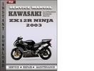 Thumbnail Kawasaki ZX12R Ninja 2003 Factory Service Repair Manual Download