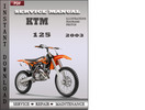 Thumbnail KTM 125 2003 Factory Service Repair Manual Download