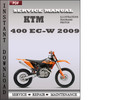 Thumbnail KTM 400 EC-W 2009 Factory Service Repair Manual Download